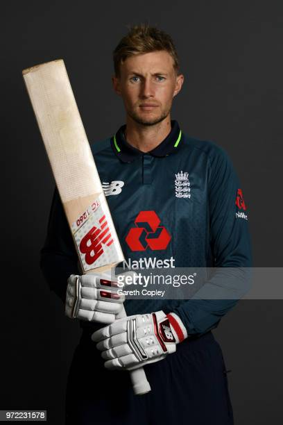 Joe Root of England poses for a portrait at The Kia Oval on June 12 2018 in London England