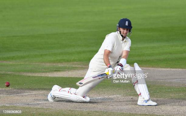 Joe Root of England reverse sweeps the ball during Day Three of the Ruth Strauss Foundation Test, the Third Test in the #RaiseTheBat Series match...