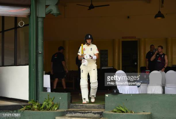 Joe Root of England walks out from the dressing room before the second day of the match between a Sri Lanka Board President's XI and England at P...