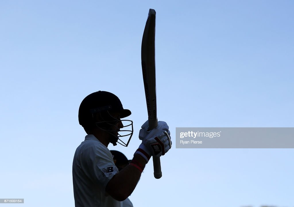 Joe Root of England walks out to bat during the four day tour match between Cricket Australia XI and England at Adelaide Oval on November 8, 2017 in Adelaide, Australia.