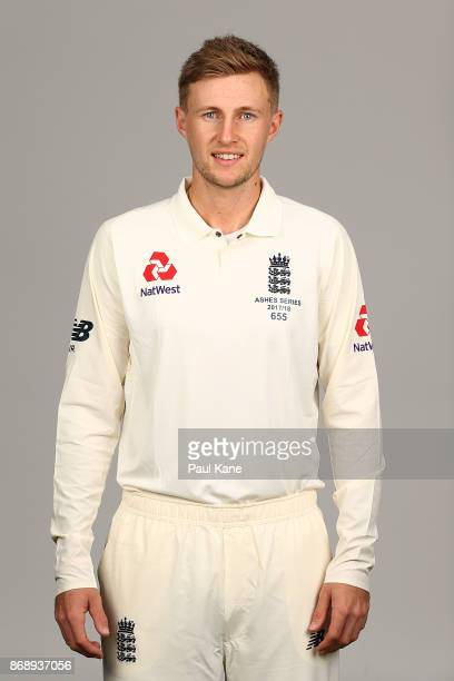 Joe Root poses during the 2017/18 England Ashes Squad headshots session at the Fraser Suites on November 1 2017 in Perth Australia