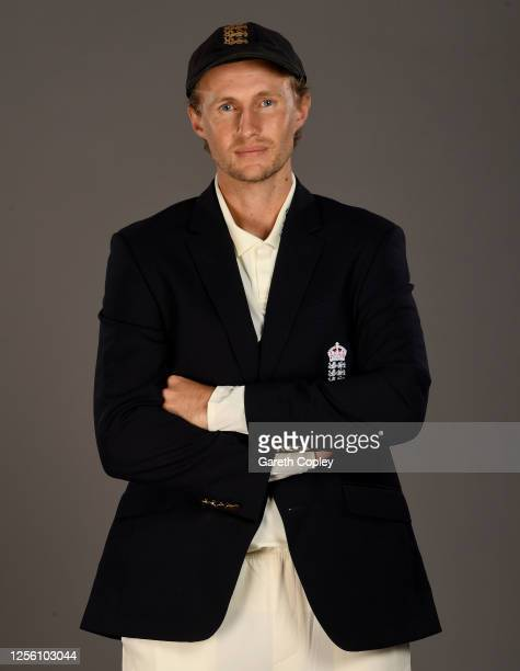 Joe Root poses for a portrait during the England Test Squad Photo call at Emirates Old Trafford on July 14, 2020 in Manchester, England.