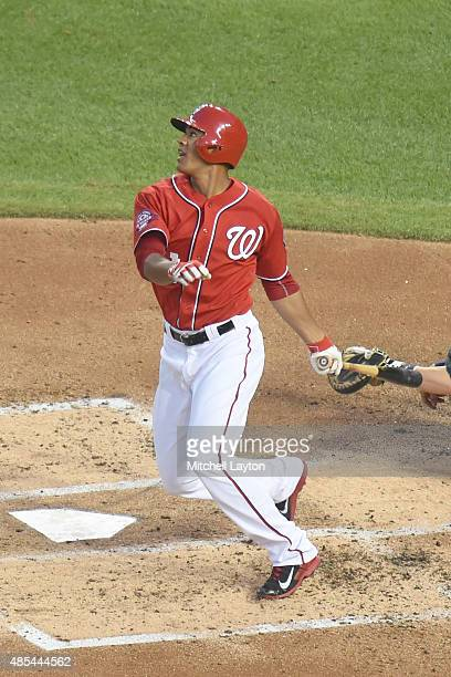 Joe Ross of the Washington Nationals bats against the Milwaukee Brewers at Nationals Park on August 22 2015 in Washington DC The Nationals won 61