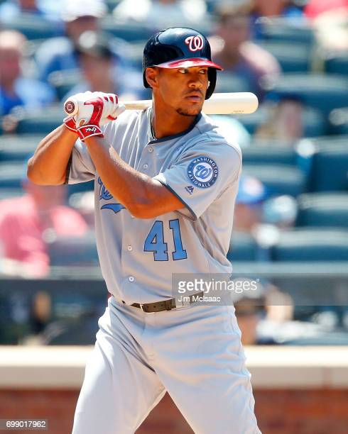 Joe Ross of the Washington Nationals in action against the New York Mets at Citi Field on June 18 2017 in the Flushing neighborhood of the Queens...