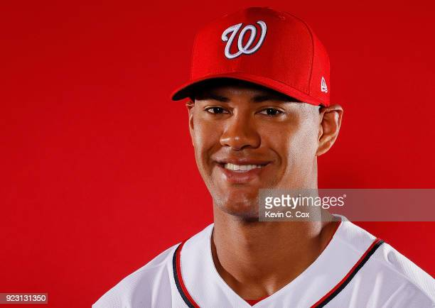 Joe Ross of the Washington Nationals poses for a photo during photo days at The Ballpark of the Palm Beaches on February 22 2018 in West Palm Beach...