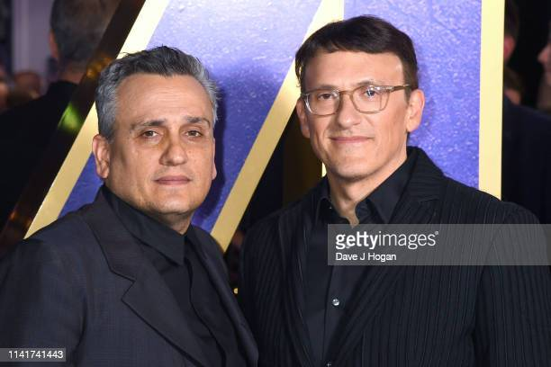 Joe Russo and Anthony Russo attend the 'Avengers Endgame' UK Fan Event at Picturehouse Central on April 10 2019 in London England