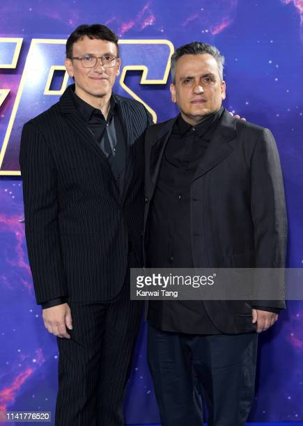 Joe Russo and Anthony Russo attend the Avengers Endgame UK Fan Event at Picturehouse Central on April 10 2019 in London England