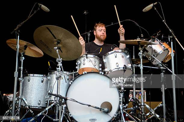 Joe Russo of Joe Russo's Almost Dead performs on stage at Mizner Park Amphitheater on January 15 2017 in Boca Raton Florida