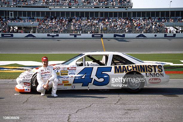 Joe Ruttman at Daytona International Speedway with the Machinists Unionsponsored Pontiac that was owned by Chuck Welling Ruttman drove the car to a...