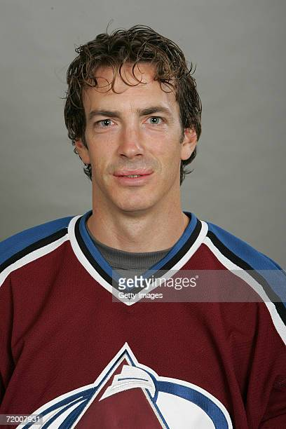 Joe Sakic of the Colorado Avalanche poses for a portrait on September 2006 at the Pepsi Center in Denver Colorado