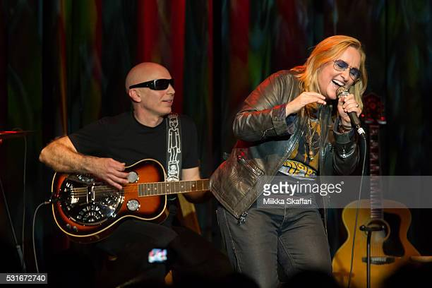 Joe Satriani and Melissa Etheridge perform at 3rd annual Acoustic4aCure benefit concert at The Fillmore on May 15 2016 in San Francisco California