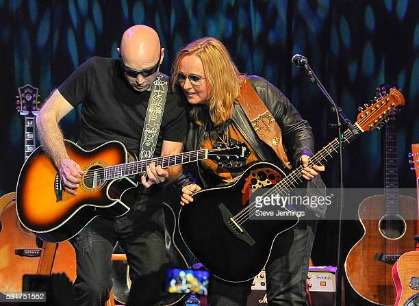 Joe Satriani and Melissa Etheridge perform at the 3rd Annual Acoustic4ACure concert a Benefit for the Pediatric Cancer Program at UCSF Benioff...