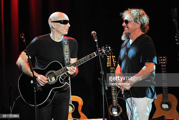 Joe Satriani and Sammy Hagar perform at the 3rd Annual Acoustic4ACure concert a Benefit for the Pediatric Cancer Program at UCSF Benioff Children's...