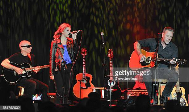 Joe Satriani Cali T Hetfield and James Hetfield perform at the 3rd Annual Acoustic4ACure concert a Benefit for the Pediatric Cancer Program at UCSF...