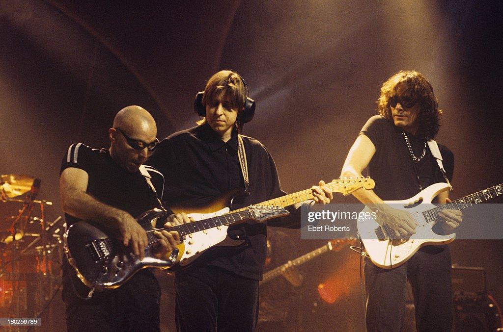 Joe Satriani Eric Johnson And Steve Vai : News Photo