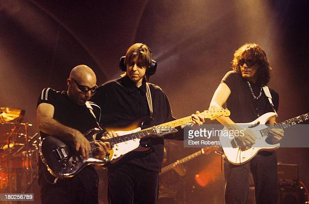 Joe Satriani Eric Johnson and Steve Vai perform at the Beacon Theatre in New York City on October 25 1996