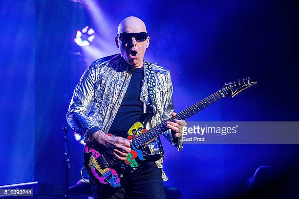 Joe Satriani performs at the Paramount Theatre on February 25 2016 in Seattle Washington