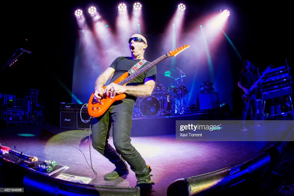 Joe Satriani performs on stage at Sala Barts on July 14, 2014 in Barcelona, Spain.