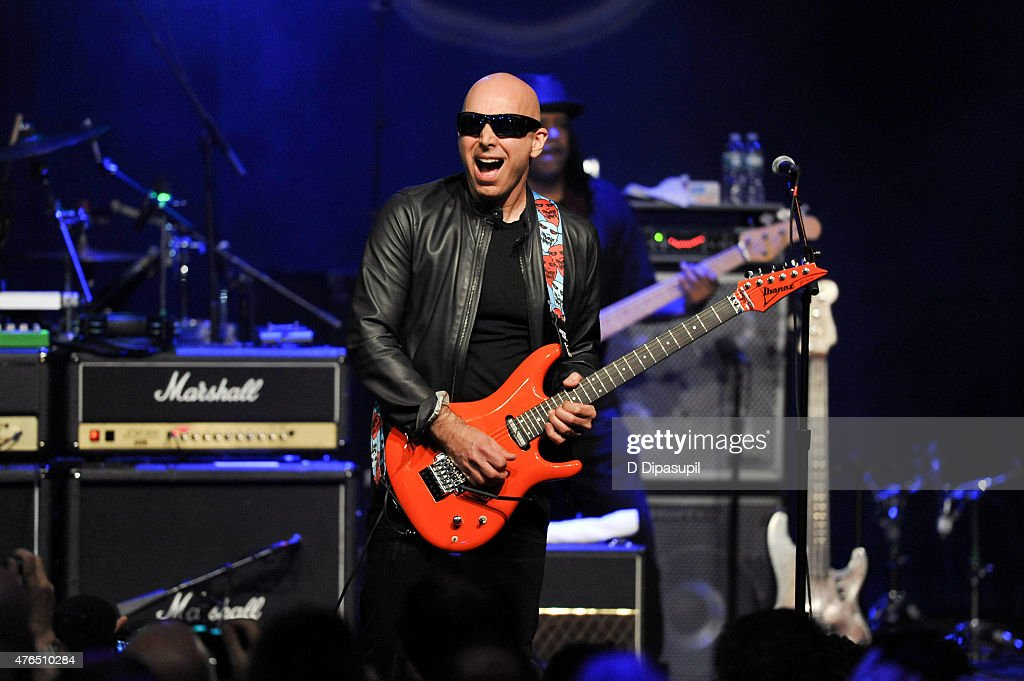 Joe Satriani performs onstage during Les Paul's 100th Anniversary Celebration at the Hard Rock Cafe - Times Square on June 9, 2015 in New York City.