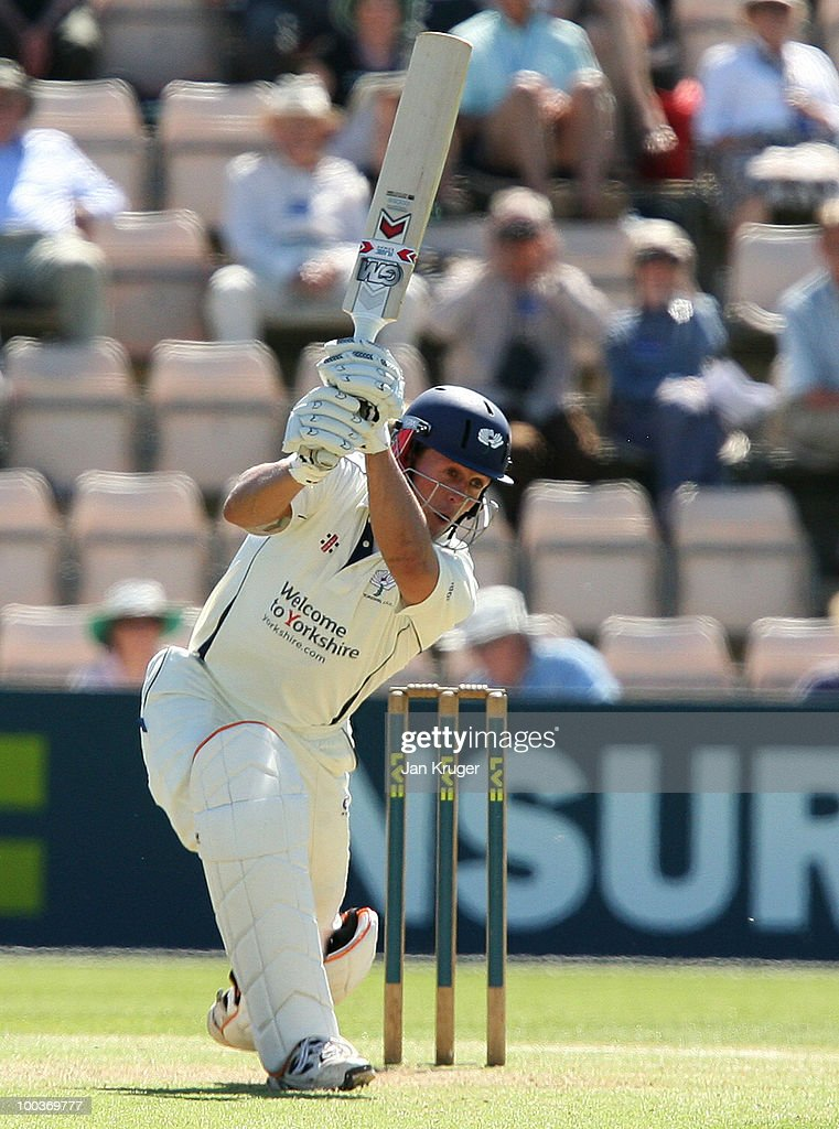 Joe Sayers of Yorkshire in action during the LV= County Championship Division One match between Hampshire and Yorkshire at The Rose Bowl on May 24, 2010 in Southampton, England.
