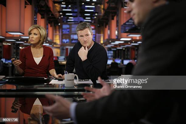 EXCLUSIVE Joe Scarborough and cohost Mika Brzezinski host the Morning Joe show on MSNBC on April 7 2009 in New York City Scarborough is currently the...