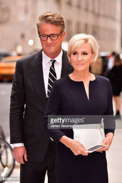 Joe Scarborough and Mika Brzezinski arrive to the Daily Front Row's Fashion Media Awards at Four Seasons Hotel New York Downtown on September 8 2017...