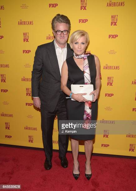 Joe Scarborough and Mika Brzezinski attend 'The Americans' Season 5 Premiere at DGA Theater on February 25 2017 in New York City
