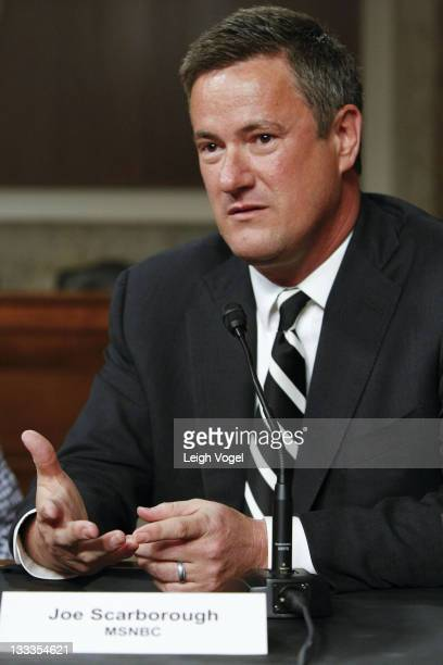 Joe Scarborough attends a Global Environmental Issues Forum at the Senate Dirksen Building on April 15 2010 in Washington DC