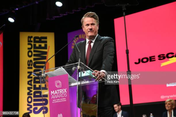 Joe Scarborough attends the 2018 Matrix Awards at Sheraton Times Square on April 23 2018 in New York City