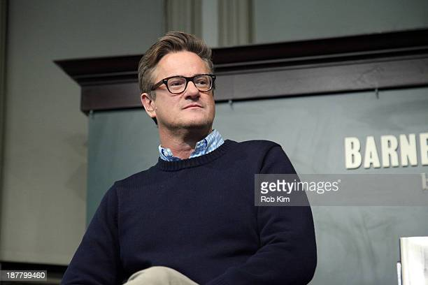 Joe Scarborough attends the The Right Path From Ike To Reagan How Republicans Once Mastered Politics And Can Again book event on November 12 2013 in...