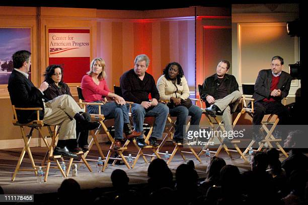 Joe Scarborough Janeane Garofalo Laura Ingraham Joe Lockhart Sheryl Underwood Ben Karlin and Eric Alterman