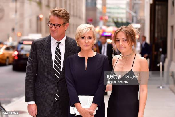 Joe Scarborough Mika Brzezinski and daughter arrive to the Daily Front Row's Fashion Media Awards at Four Seasons Hotel New York Downtown on...