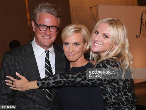 Joe Scarborough Mika Brzezinski and Laura Brown attend the Daily Front Row's Fashion Media Awards at Four Seasons Hotel New York Downtown on...