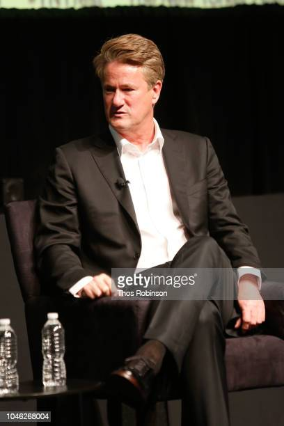 Joe Scarborough speaks on stage at the 2018 New Yorker Festival MSNBC Hosts Joe Scarborough And Mika Brzezinski In Conversation With The New Yorker's...