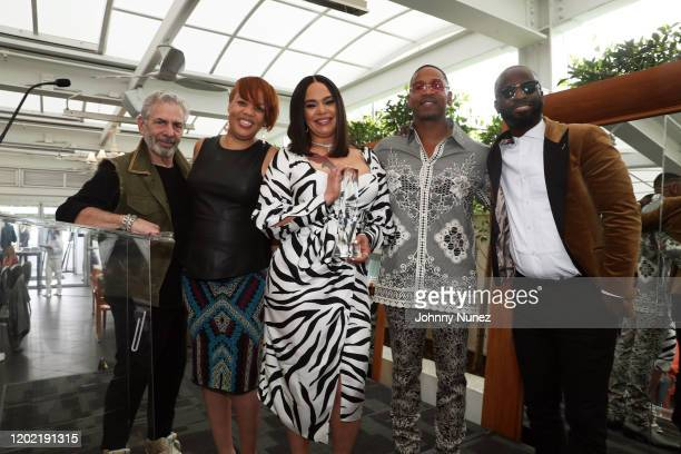 Joe Schick Angela Mack Faith Evans Stevie J and BryanMichael Cox attend the Bryan Michael Cox 16th Annual Music And Memory PreGrammy Brunch 2020 at...