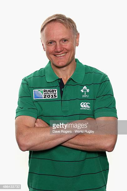 Joe Schmidt head coach of Ireland poses for a portrait during the Ireland Rugby World Cup 2015 squad photocall on June 28 2015 in Maynooth Ireland