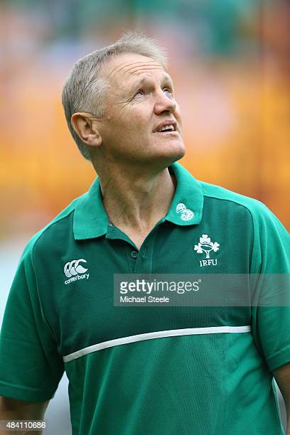Joe Schmidt the Head Coach of Ireland during the International match between Ireland and Scotland at the Aviva Stadium on August 15 2015 in Dublin...