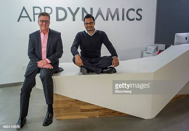 Joe Sexton president of worldwide field operations for AppDynamics Inc left and Jyoti Bansal founder and chief executive officer of AppDynamics Inc...