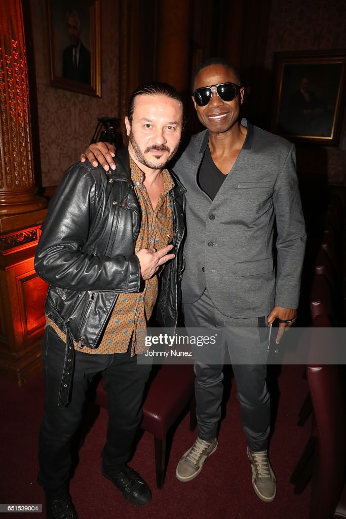 Joe Shick and Doug E Fresh attend Icon Talks Salutes Fabolous at Brooklyn Borough Hall on March 9, 2017 in New York City.