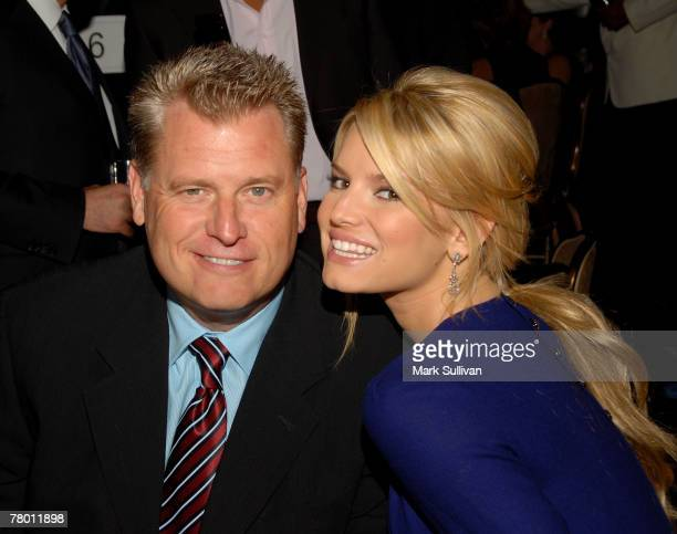 Joe Simpson and actress Jessica Simpson attend Operation Smile's 25th Annual Gala held in Beverly Hills, California on October 5, 2007.