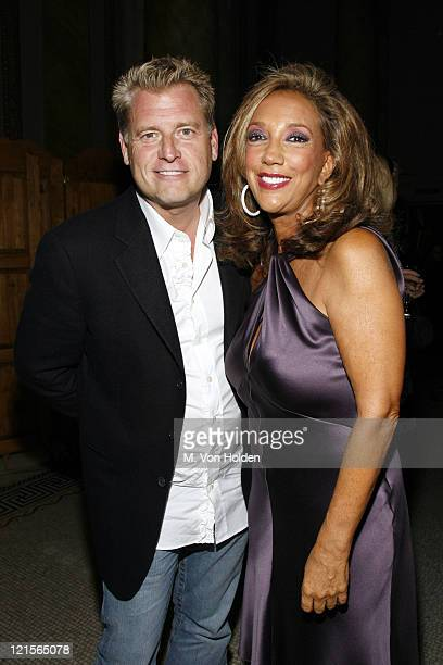 Joe Simpson and Denise Rich during Denise Rich and the GP Foundation for Cancer Research Host 'Disco Diamonds' Fundraiser at Capitale in New York...