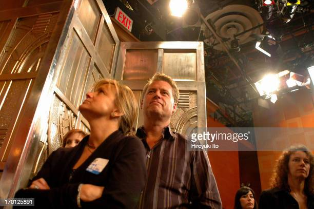 """Joe Simpson and his wife Tina watching their daughter Ashlee Simpson performing at """"Live With Regis and Kelly"""" at ABC studio on September 21, 2004."""