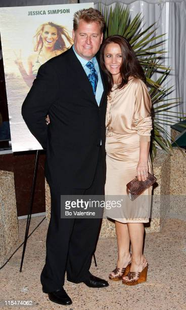 """Joe Simpson and Tina Simpson during 2007 Cannes Film Festival - """"Major Moviestar"""" Party on the Budweiser Select Yacht - Arrivals at Budweiser Select..."""