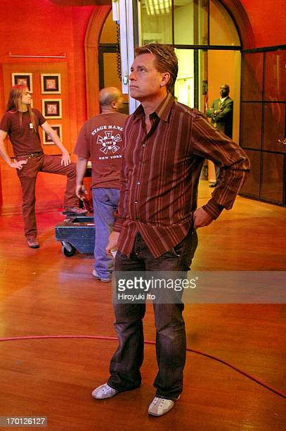 """Joe Simpson at ABC studio after his daughter Ashlee Simpson performed in """"Live With Regis and Kelly"""" on September 21, 2004."""