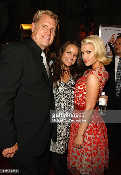 """Joe Simpson, Tina Simpson and Jessica Simpson during LionsGate's """"Employee of the Month"""" Los Angeles Premiere at Mann's Chinese Theater in Hollywood,..."""