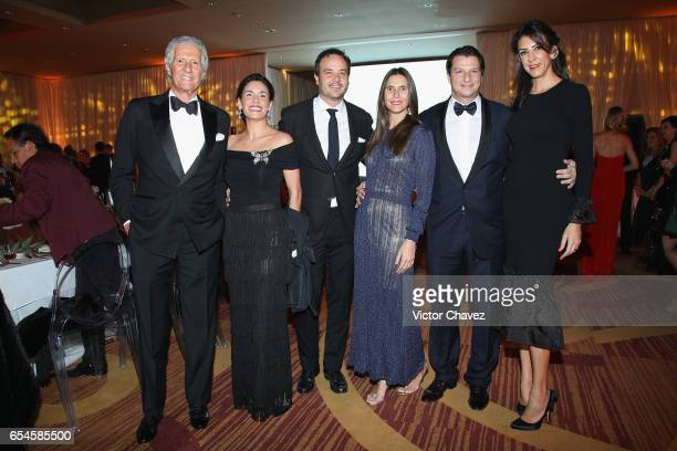 Joe Slim Constanza Carrascal Angela Vilchez Alejandro Grimaldi and Celia Daniel attend the Happy Hearts Foundation gala at Sheraton Maria Isabel...