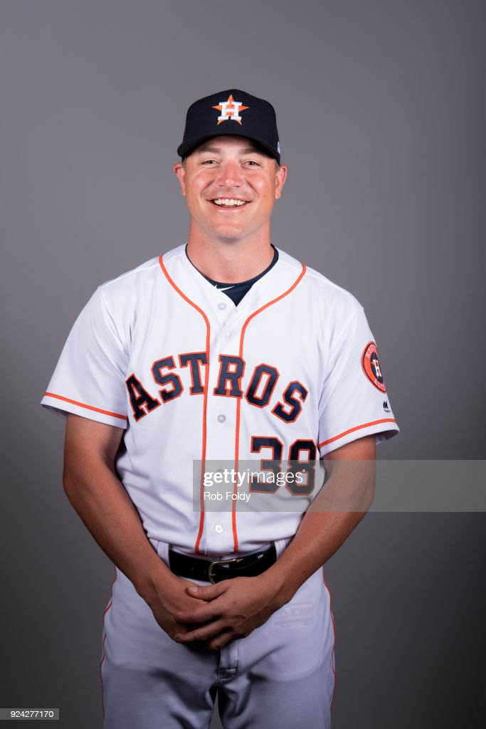 Joe Smith #38 of the Houston Astros poses during Photo Day on Wednesday, February 21, 2018 at the Ballpark of the Palm Beaches in West Palm Beach, Florida.