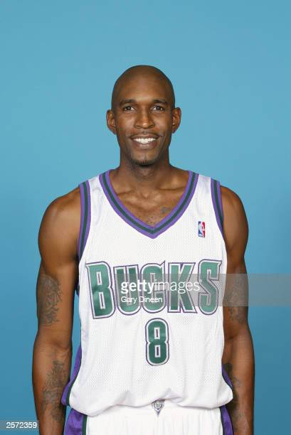 Joe Smith of the Milwaukee Bucks poses for a portrait during NBA Media Day at the Bucks Practice Facility on October 2 2003 in Milwaukee Wisconsin...