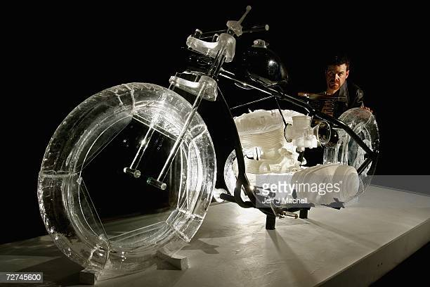 Joe Stanaway from Montana shows his exhibit 'The Glass Ride' at the Edinburgh College of Art Masters of Design Exhibition on December 6 2006 in...