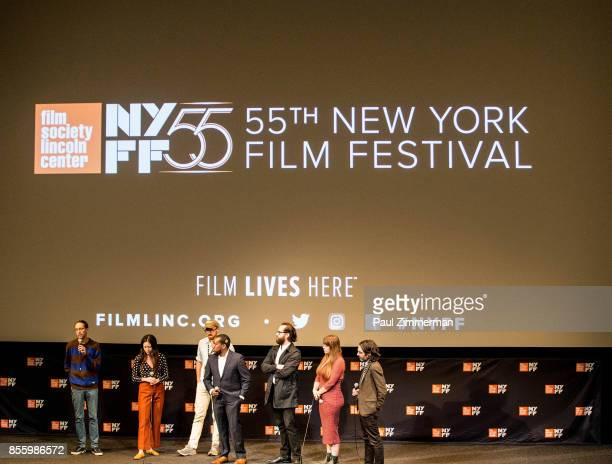 Joe Stankus Adinah Dancyger Pacho Velez Ashley Connor Kevin H Wilson John Wilson and Jason Giampietro speak onstage at the 55th New York Film...